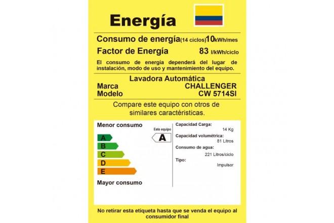 """Lavadora CHALLENGER 14Kg CW5714""""G"""