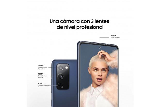 Celular SAMSUNG Galaxy S20 FE 128GB Naranja +UV STERILIZER + Silicone Cover Azul-4