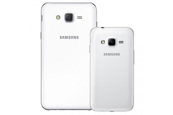 Celular libre SAMSUNG J7 LTE Blanco + Celular Libre SAMSUNG J1 Mini Prime Blanco