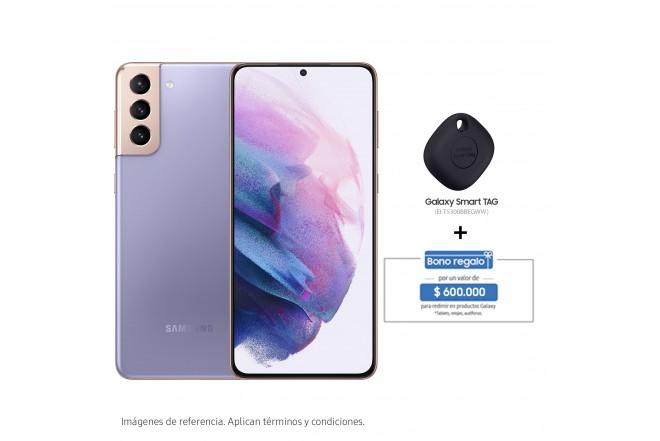 Combo Celular SAMSUNG Galaxy S21 Plus 256GB Morado + Galaxy Smart TAG-1