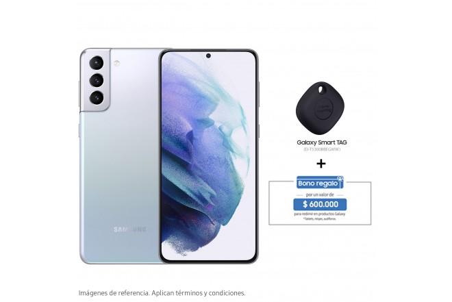 Combo Celular SAMSUNG Galaxy S21 Plus 256GB Plateado + Galaxy Smart TAG-1