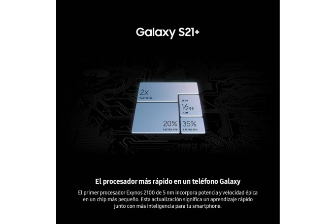 Combo Celular SAMSUNG Galaxy S21 Plus 256GB Plateado + Galaxy Smart TAG-4