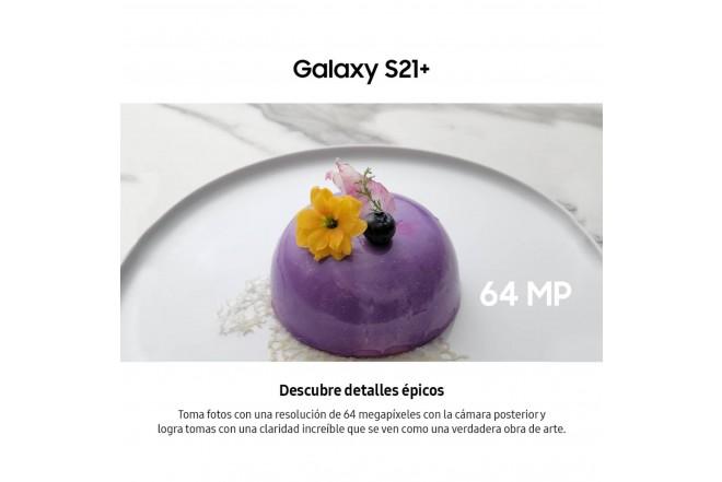 Combo Celular SAMSUNG Galaxy S21 Plus 256GB Plateado + Galaxy Smart TAG-6