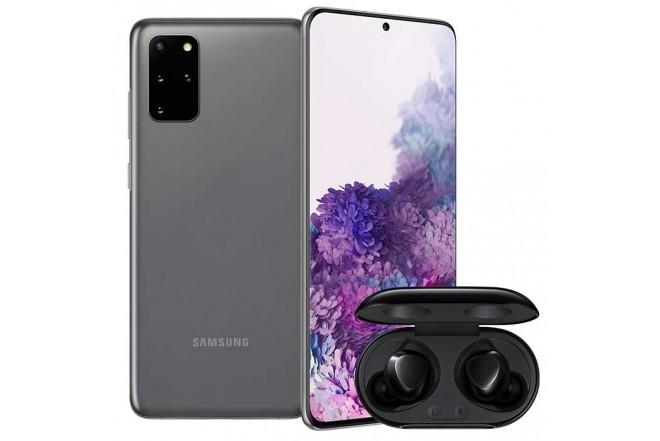 Combo Celular SAMSUNG Galaxy  S20 Plus 128GB Gris + Buds Plus Negro1