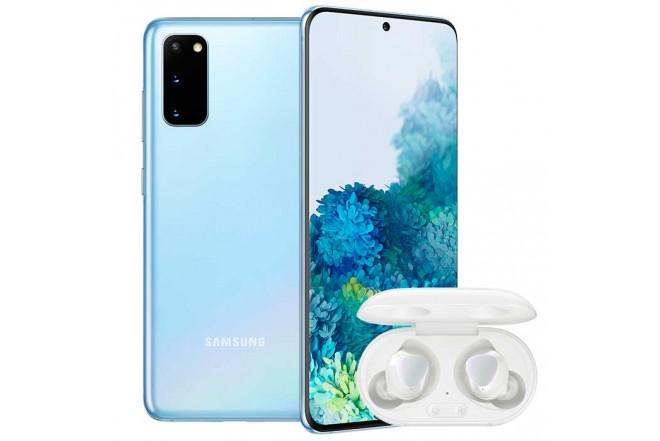 Combo Celular SAMSUNG Galaxy  S20 128GB Azul + Buds Blanco1