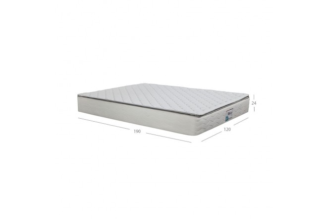 KOMBO K-LINE: Colchón Resortado Semidoble Esencial Plus 120 x 190 cm + Base Cama (Colchones)