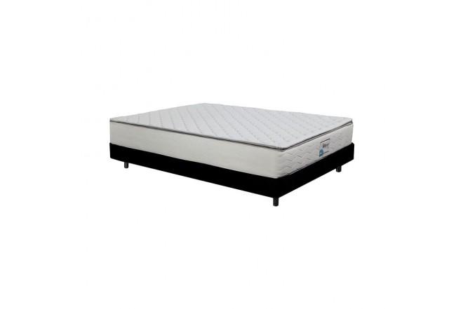 KOMBO K-LINE: Colchón Resortado Doble Esencial Plus 140 x 190 cm + Base Cama (Colchones)