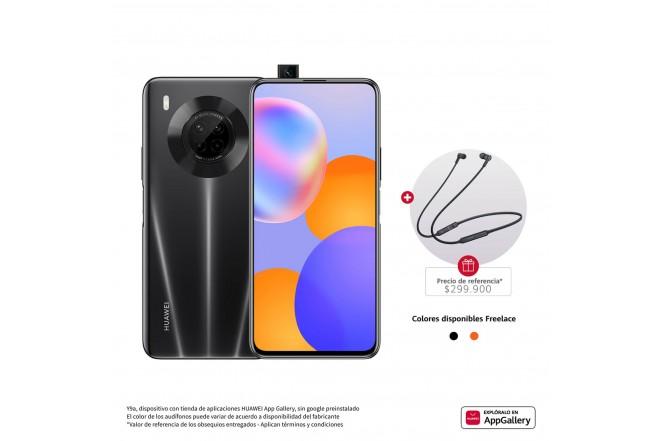 Combo Celular HUAWEI  Y9A Negro - Midnight Black + Audifono CM70-1