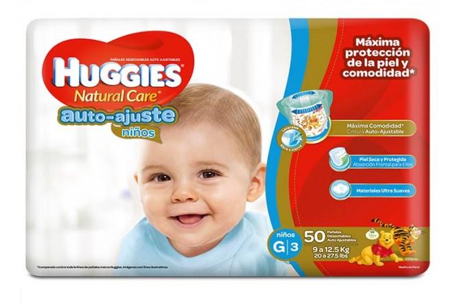 Pañales HUGGIES Auto Ajuste Niño G x 50 Und.