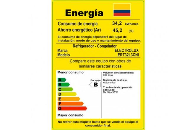 Nevera ELECTROLUX 320 Litros ERT32L3CNI