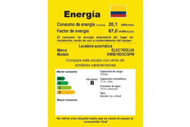 Lavadora ELECTROLUX 18Kg EWIB18D3CW BTU