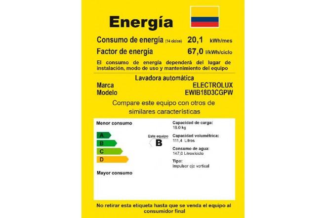 Lavadora ELECTROLUX 18Kg EWIB18D3CW BTU Blanco4