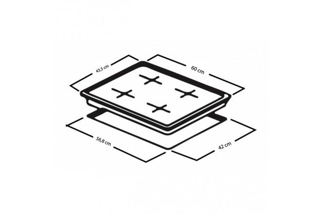 Cubierta MABE de 60cm CMG6044KM-0CON