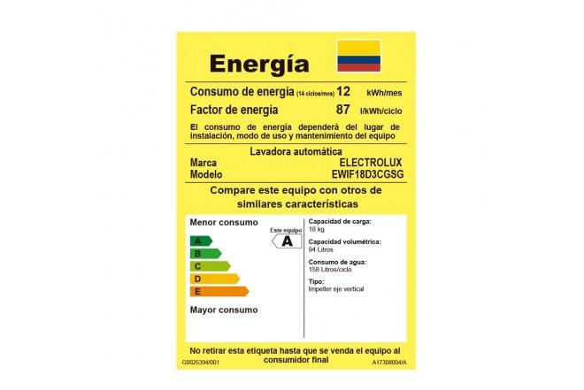 Lavadora Electrolux 18 Kg Efficace G6