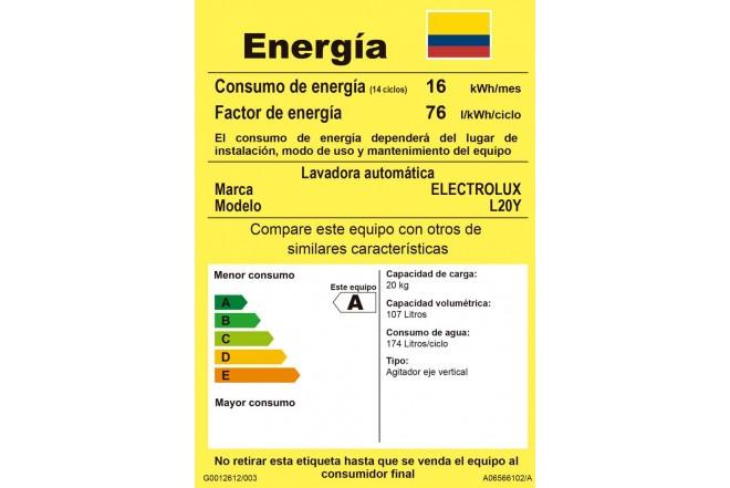 Lavadora ELECTROLUX 20Kg 21151YQA10 Blanco4