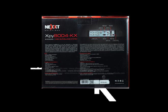Kit Cámara Seguridad NEXXT 8 Channel/4 cámaras 500GB