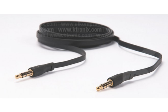 Cable Uno a Uno POSH Plano 1 8M 3.5mm Negro