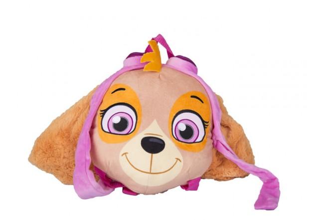 Mochila Skye Paw Patrol premium toys marrón y rosado
