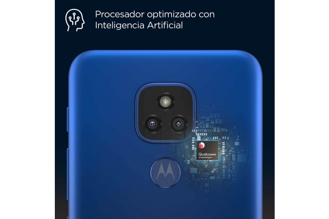Celular MOTOROLA E7 PLUS 64GB Azul - Mystic Blue_6