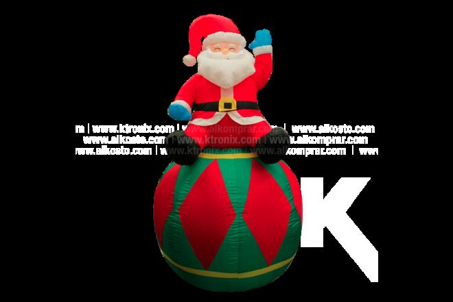 Santa Inflable Sobre Pelota