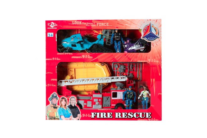 Set Rescate Bomberos Fire Rescue