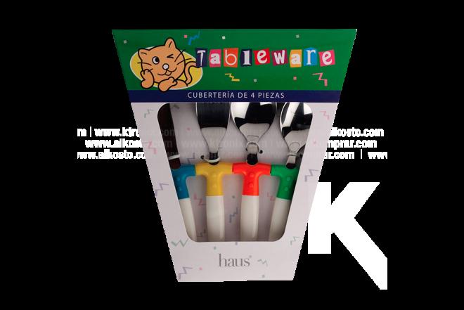 Cubiertos Para Niños Tableware Juego x 4