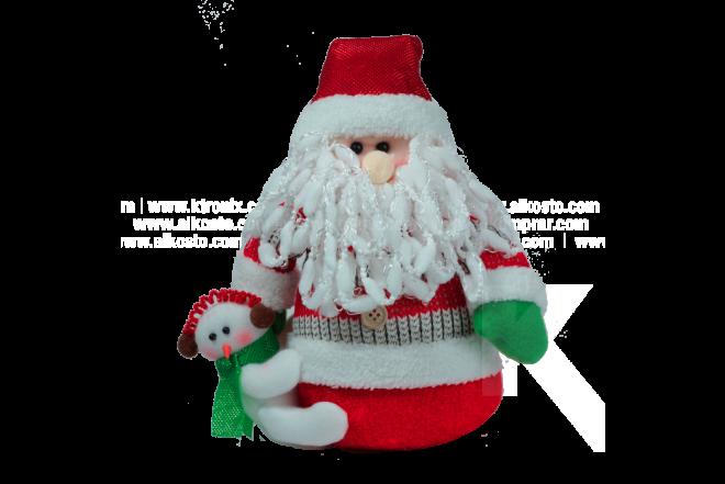 """Decoración Navideña Santa Parado Con Hombre De Nieve Pequeño 12"""""""