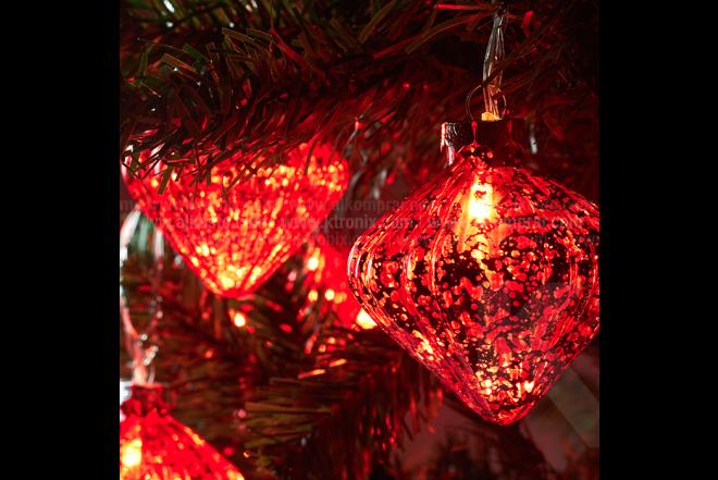 Guirnalda De Luz Con Diamante 7 cm Roja