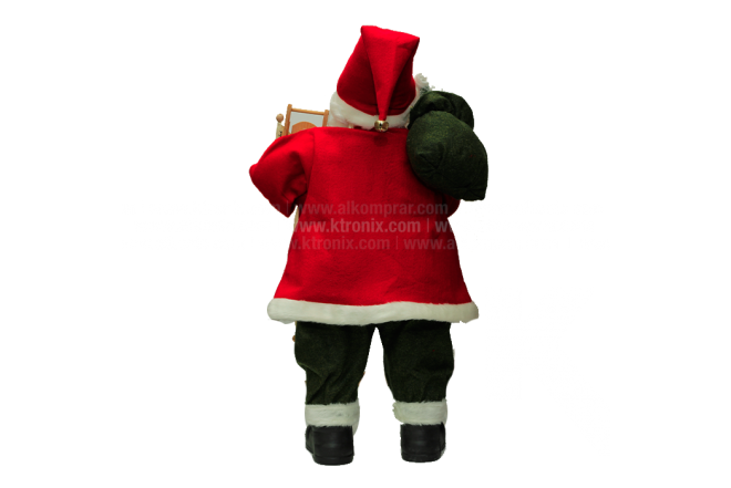 Decoración Navideña Santa De Pie Bolsa De Regalo  81 cm