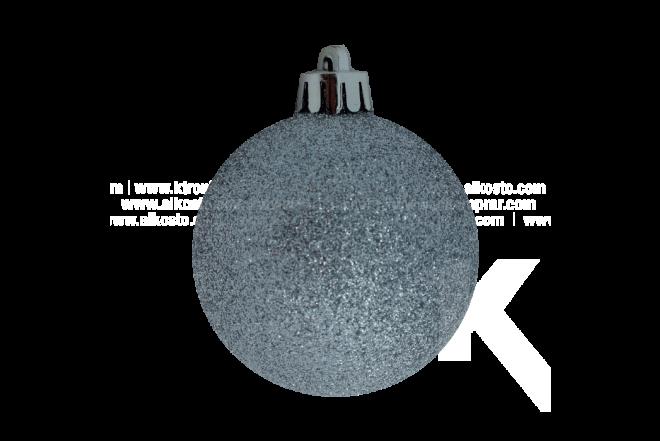 Set de Esferas x 20 Espiral Plata 6 cm