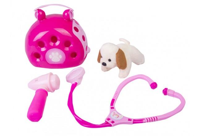 Set belleza de mascota Shun Feng Long rosado