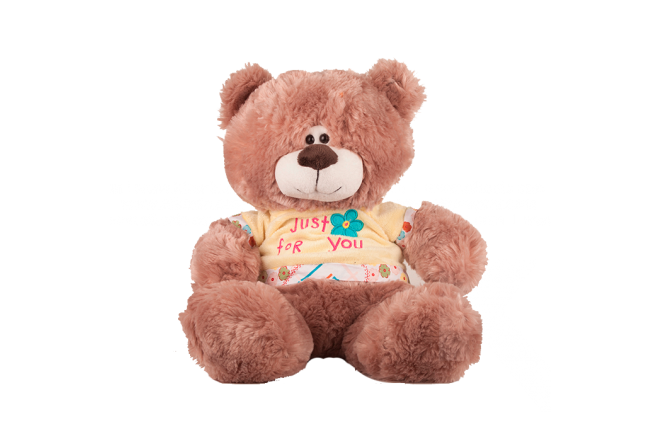 Peluche Oso Con Camiseta Just for you 30 cm