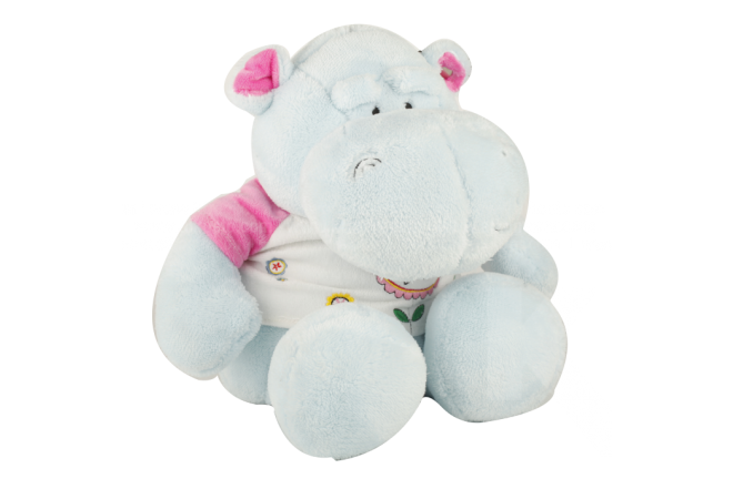 Peluche Hipopótamo Con Camiseta 28 cm