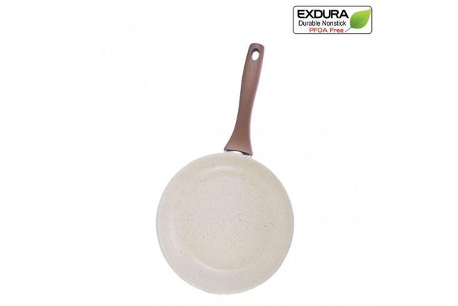 Sartén EXDURA 24 cms Beige Apto para estufas de inducción