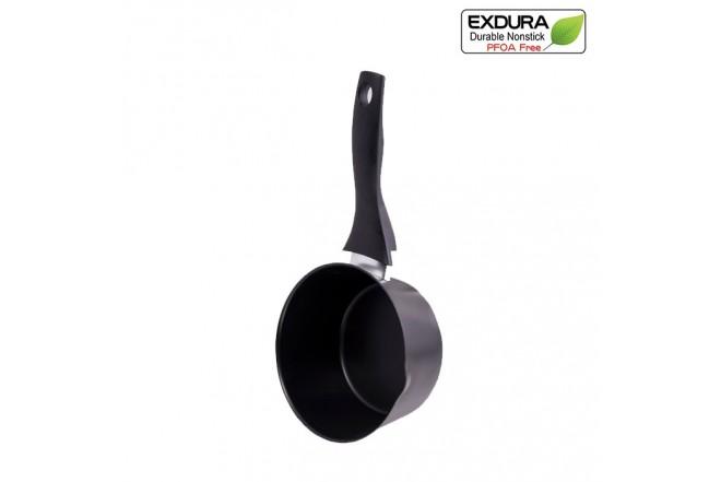 Cacerola EXDURA 16 cm Negro Apto para estufas de inducción