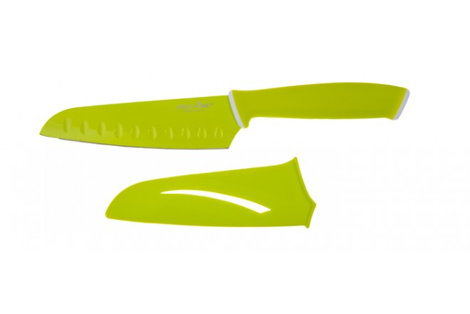 Cuchillo de Cocina FREE HOME Santoku 12.7 Cms Verde