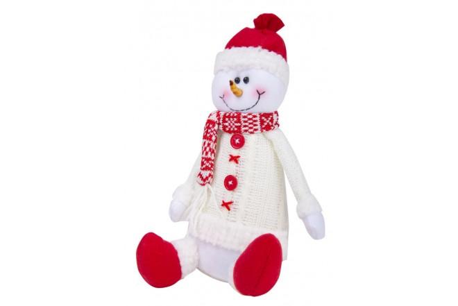 """Hombre Nieve Sentado Snowball 11"""" (28 cm) Blanco"""