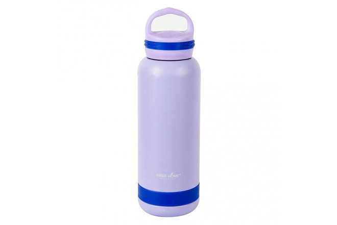 Termo FREE HOME 750 mililitros lila/azul