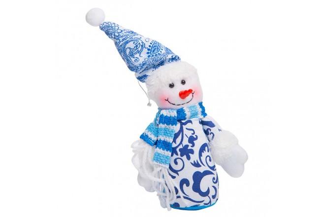 Colgante de Muñeco de Nieve Azul 5 cm
