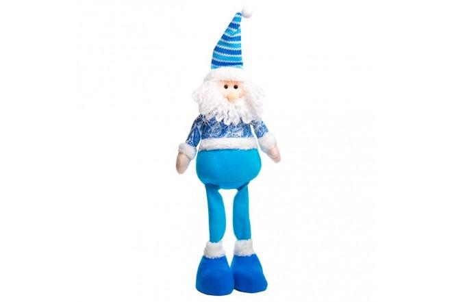 Muñeco de Santa Claus de Pie Azul 17 cm