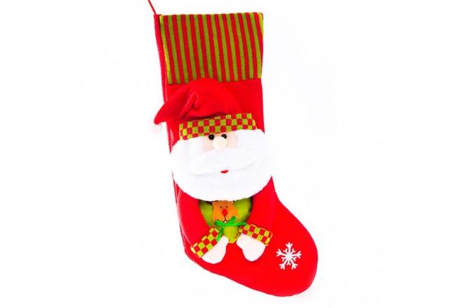 NAVIDAD Bota Santa Claus de 20 cm