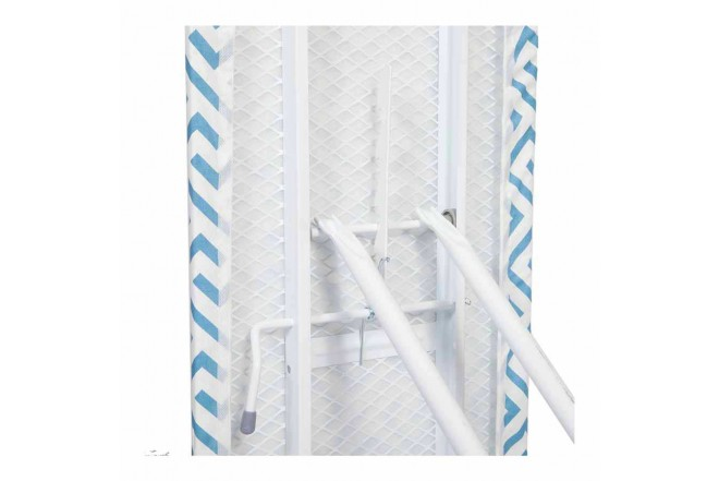 Mesa de Planchar FREE HOME Líneas Azul/Blanco (Mesas de Planchar)-4