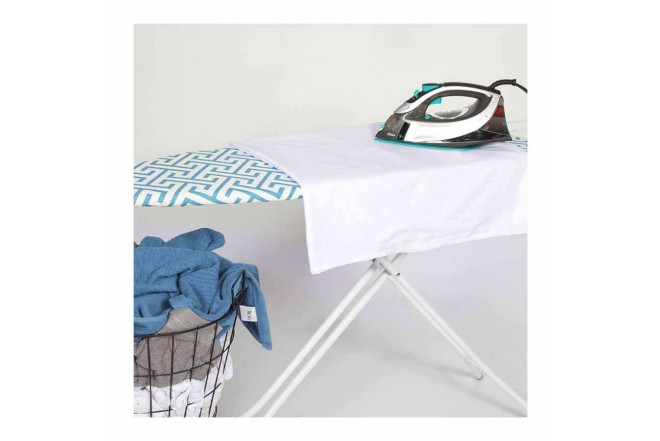 Mesa de Planchar FREE HOME Líneas Azul/Blanco (Mesas de Planchar)-5