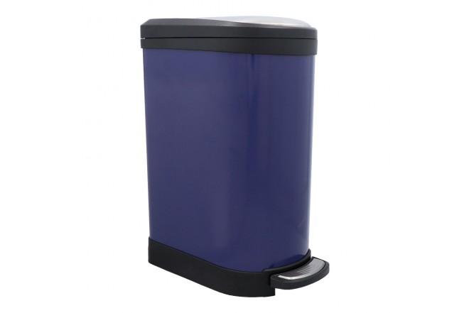 Papelera de Pedal/Caneca de basura FREE HOME Azul Oscuro - 10 Litros (Canecas)-1