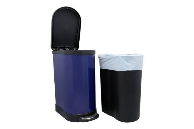 Papelera de Pedal/Caneca de basura FREE HOME Azul Oscuro - 10 Litros (Canecas)-3