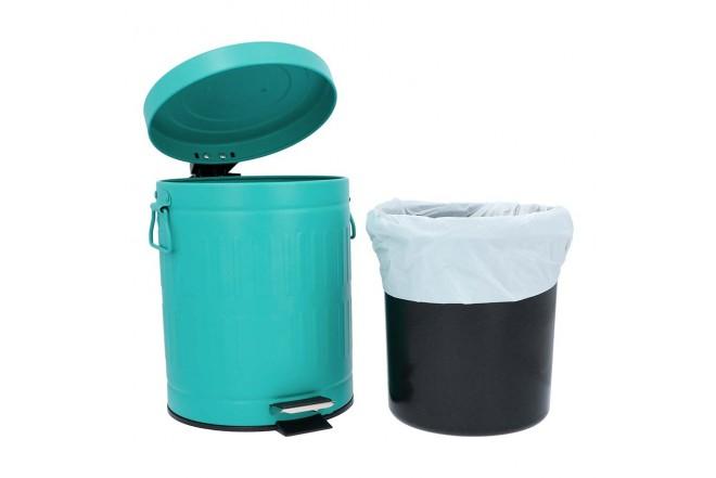 Papelera de Pedal/Caneca de basura Verde Menta - 5 Litros (Canecas)-3