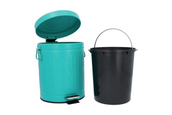 Papelera de Pedal/Caneca de basura Verde Menta - 5 Litros (Canecas)-2