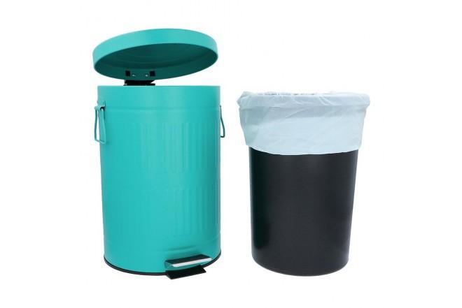 Papelera de Pedal/Caneca de basura FREE HOME Agua Marina - 12 Litros (Canecas)-3