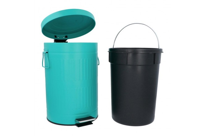 Papelera de Pedal/Caneca de basura FREE HOME Agua Marina - 12 Litros (Canecas)-2