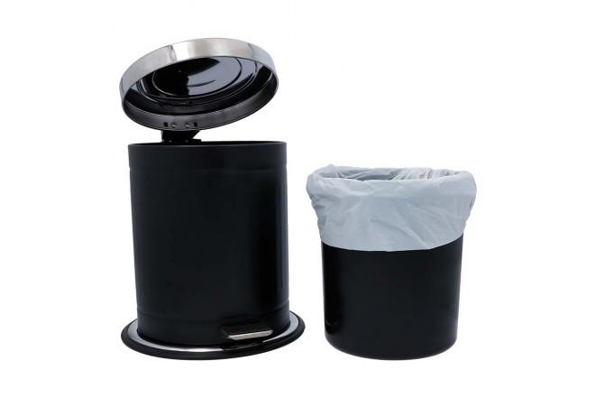 Papelera de Pedal/Caneca de basura FREE HOME Negro Mate - 5 Litros (Canecas)-3
